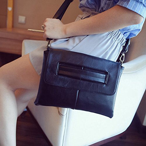 Messenger Purse Retro Bag CAACOO Handbag Casual Black Clutch Women's RqSnRUwxYT