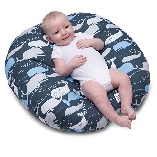 Navy Whale (Boppy Newborn Lounger, Big Whale Navy)