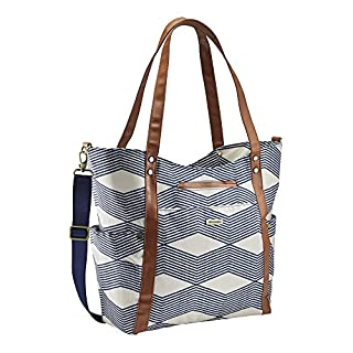 JJ Cole Bucket Tote Diaper Bag, Navy Twine