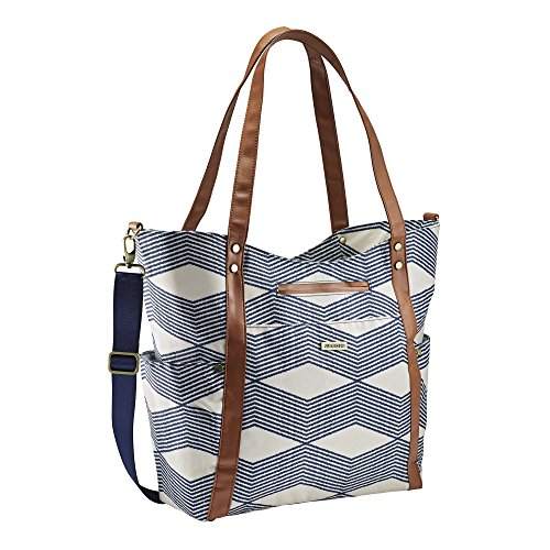 JJ Cole Bucket Tote Navy Twine