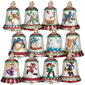 Old World Christmas 12 Days of Christmas Bells Blown Glass Ornaments Set of  12 - Amazon.com: Old World Christmas 12 Days Of Christmas Bells Blown