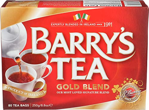Barry's Gold Blend Irish Tea, 80-Count Tea Bags (Pack of 3) from Barry's Tea