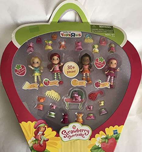 Strawberry Shortcake 4 Scented Doll Mini Pack Set w 30+ Pieces Target Exclusive (2011) (Mini Strawberry Shortcake Toys)