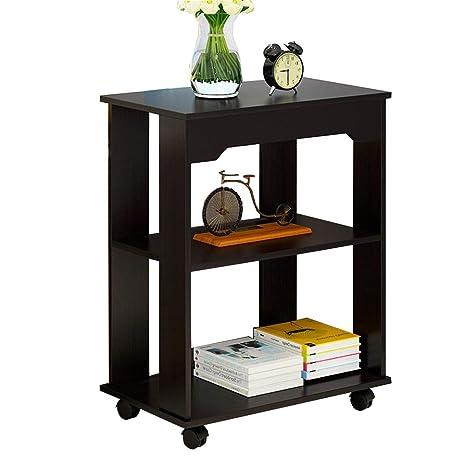 Amazon.com: ZHIRONG - Mesa auxiliar de 2 niveles para salón ...