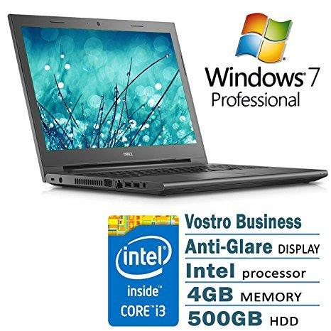 15.6 Anti-Glare Business Laptop Black Edition Intel I3 4G 500G 802.11AC DVD Windows 7 Professional ()