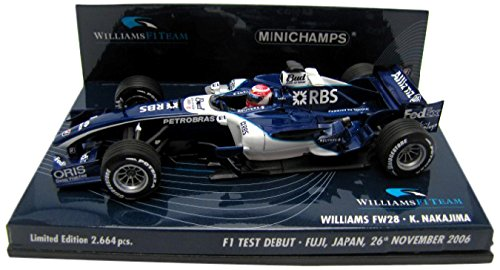 1/43 ウィリアムズトヨタ FW28 F1テストカー 中嶋一貴 富士スピードウェイ 2006年11月26日 (ネイビー×ホワイト) 400060135の商品画像