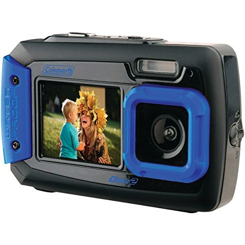 COLEMAN 2V9WP-BL 20.0-Megapixel Duo2 Dual-Screen Waterproof
