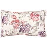 Laura Ashley Gosling Decorative Pillow, 14 x 24, White/Pink/Purple