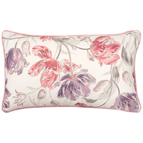 Laura Ashley Gosling Decorative Pillow, 14 x 24, White Pink Purple
