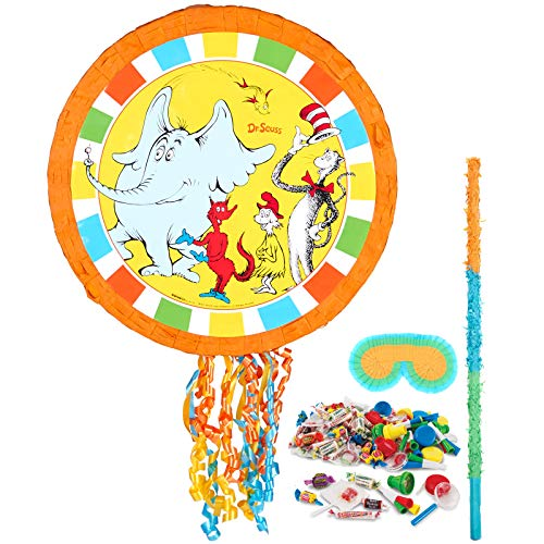 BirthdayExpress Dr Seuss Cat in The Hat Party Supplies - Pinata Kit ()