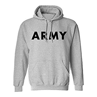 Amazon.com  ARMY Hooded Sweatshirt in Gray  Clothing 75a06752628