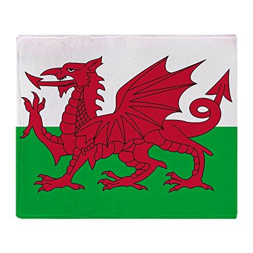 "CafePress - Welsh Flag of Wales - Soft Fleece Throw Blanket, 50""x60"" Stadium Blanket"