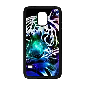 INASK luminous effect fluorescent glow in the dark Back Cover Case with Free Screen Protector Cool Big Leopard TPU Phone case cover for Samsung Galaxy S5 Mini black