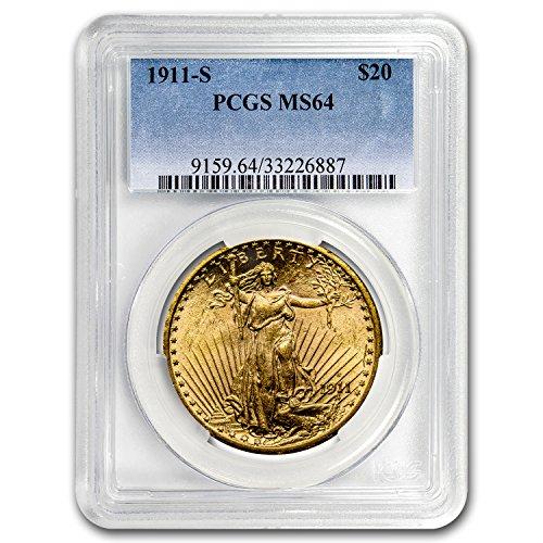 1911 S $20 St. Gaudens Gold Double Eagle MS-64 PCGS G$20 MS-64 PCGS