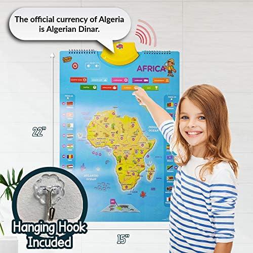 Amazon.es: Learn & Climb Mapa Interactivo del Mundo para niños ...