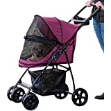 Pet Gear PG8030NZBB Happy Trails Lite No-Zip Pet Stroller