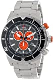 Swiss Precimax Men's SP13288 Pursuit Pro Grey Dial with Silver Stainless Steel Band Watch, Watch Central