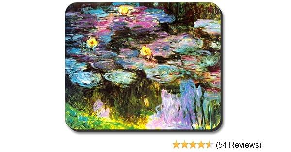 Art Plates Brand Mouse Pad Monet Violet Lilies