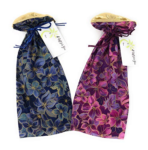 """Kona Floral Fabric - Reusable Drawstring Gift Bag 