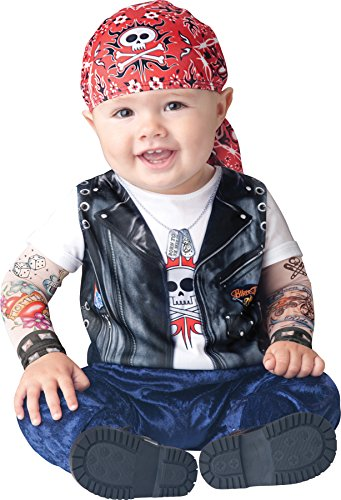 UHC Boy's Born To Be Wild Biker Infant Toddler Fancy Dress Halloween Costume, 12-18M -