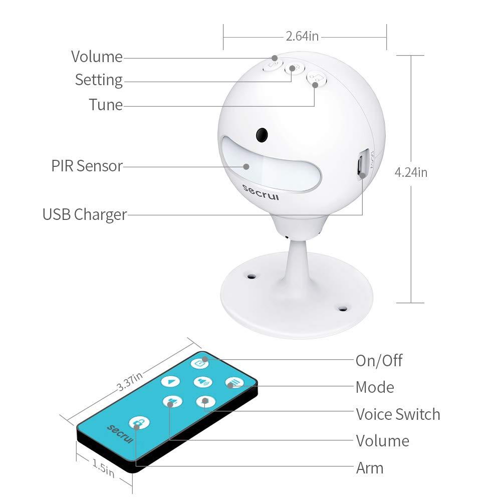 Amazon.com: Alarma de sensor de puerta infrarroja, sensor de ...
