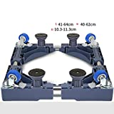 Washing Machine Base Fixed Heightening Stainless Steel It Can Move Fridge Stand -Casters (Size : A)