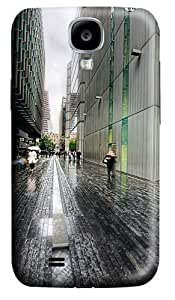 London Street Rainy Weather Polycarbonate Hard Case Cover for Samsung Galaxy S4/Samsung Galaxy I9500 3D