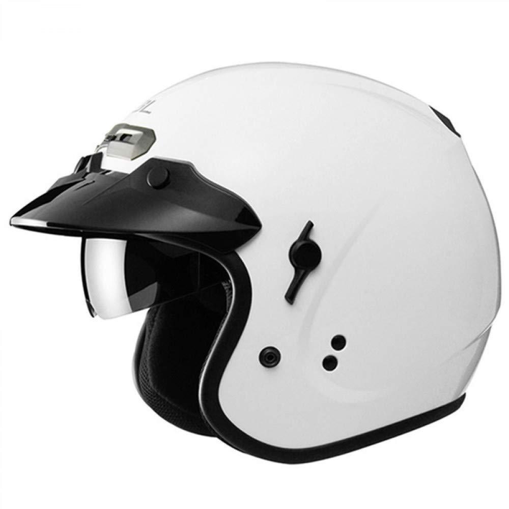 LOLIVEVE High-End Motorrad Harley Cruise Helm Mit Integrierter Sonnenbrille Motorradhelm