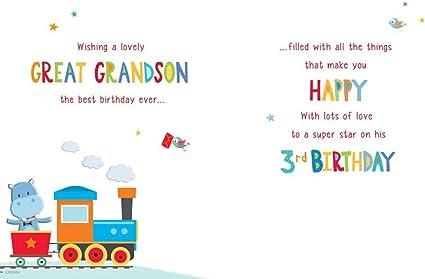Carte D Anniversaire Pour Enfants Grand Petit Fils 9 X 6 Cm Regal Publishing Amazon Fr Fournitures De Bureau
