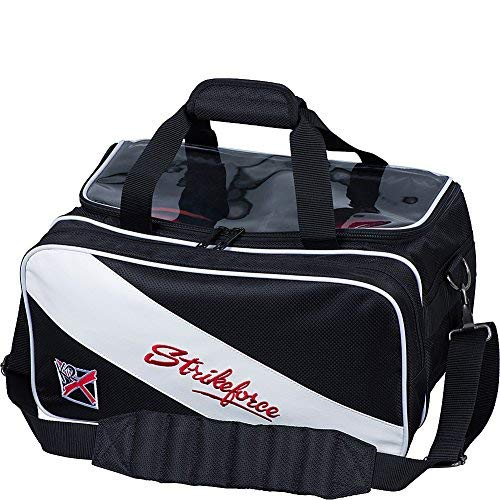 Strikeforce Fast Double Ball Bowling Tote Black/White