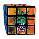 MingDe YY Masked Statue Of Liberty Rubik's Cube 3×3 Brain Training Game Magic Cube Speed Cube Puzzle For Kids Or Adults