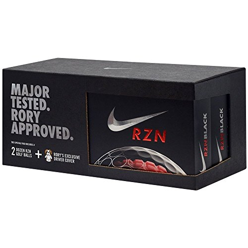 y 2 Dozen Nike RZN Black Golf Balls & Signature Headcover (Nike Golf Headcover)