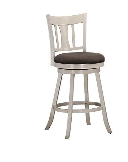 Amazoncom Acme Tabib White Bar Chair With Swivel Kitchen Dining