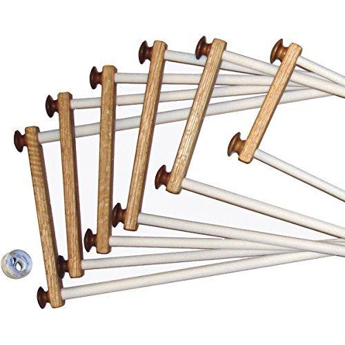 American Dream Oak EZ Stitch Frame, 14-Inch (Stitch Rods Ez Scroll)