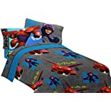 Disney Big Hero 6-Heroic Robot Microfiber Sheet Set, Twin