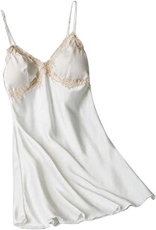 Femme Rose et blanc en coton mélangé à Lanières Nuisette//Chemise Taille 8