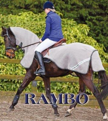 Horseware Ireland - Rambo Flyrider no Vamoose - Oatmeal wi-Large by Rambo