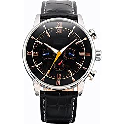 SHENHUA Men's Leisure Wrist Watch Color Black
