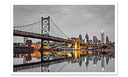 amazon com philadelphia touch of color skylines 36x24 matte