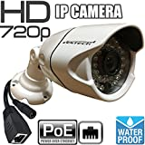 Network ip Camera ventech with video and power over cat5 720P POE (Power Over Ethernet ) Outdoor Home Security Surveillance Cam,Night Vision ir led IP66 Waterproof Stabler Connection Compared Wifi