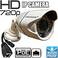 Ventech VT-R889IP 1 Megapixel 720P HD Indoor Outdoor POE IP Bullet Camera network Surveillance Security Camera with 3.6mm Lens - No Power Supply