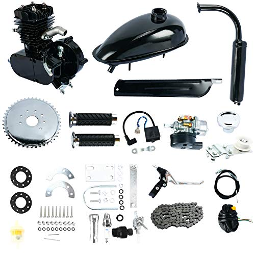 YaeGarden 50cc Bike Bicycle Motorized 2 Stroke Cycle Petrol Gas Engine Kit Set Mountain Bike Upgrade Kit ()