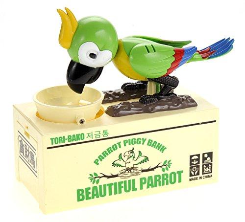 PowerTRC Cute and Adorable Parrot Coin Bank Saves Coin Consumes Money Saving Box - Piggy Bank Pirate