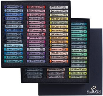 Rembrandt Royal Talens Soft Pastels General Wood Box Set, 90 Stick Set