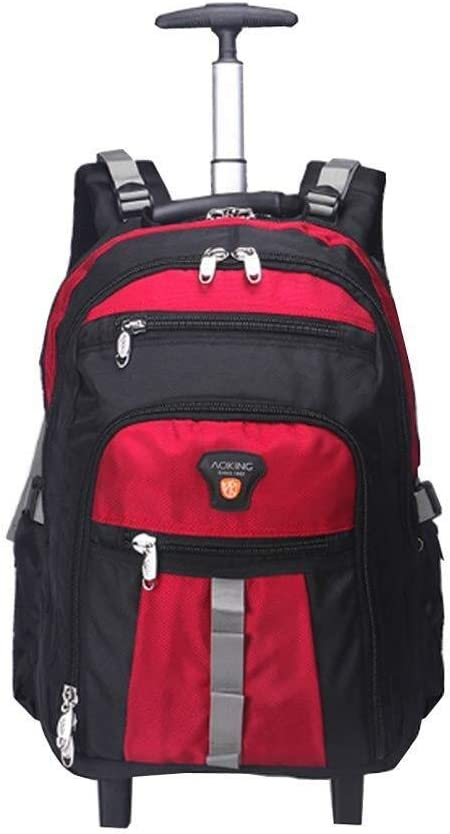 AI LI WEI Large Capacity Travel Business Boarding Unisex Backpack with Wheel Lever Backpack Laptop Backpack. Color : Grey, Size : S