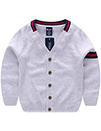AUIE SAOSA Little boys cotton No pilling knitted cardigan Sweater
