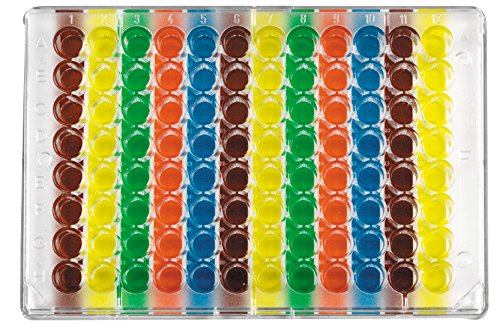 Diversified Biotech WELL-96V Multi Colored Well Orienter for Microplate, 96 Well, Vertical (Pack of 2)