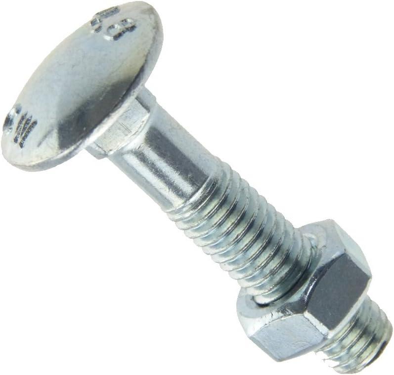 Schlo/ßschraube DIN 603 Mu 4.6 Stahl galvanisch verzinkt M 5 x 16-100 St/ück