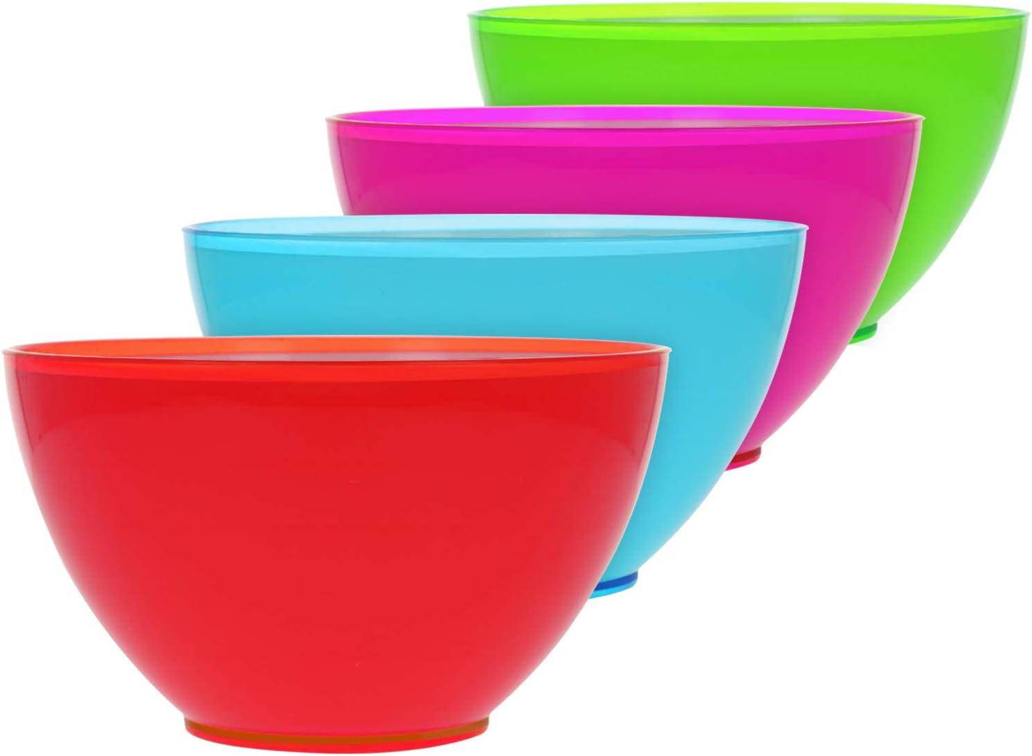 plastilina Ideale per i Compleanni Set08 com-four/® 4X Mucus con Suono ovattato nella Confezione Furzknete in Blu, Rosa, Verde e Giallo Neon