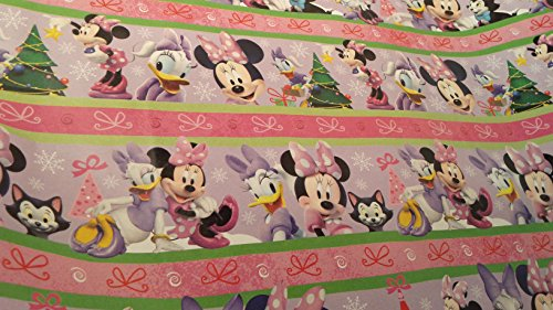 [Christmas Wrapping Minnie Mouse Daisy Duck Holiday Paper Gift Greetings 1 Roll Design Festive Wrap Disney] (Daisy Duck Costumes For Toddlers)